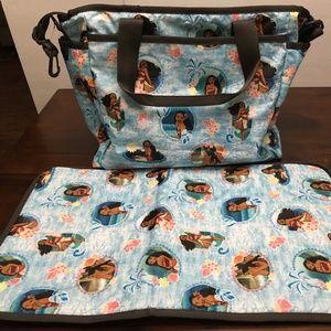 LeSportsac Ryan Diaper Bag Disney Moana Wave
